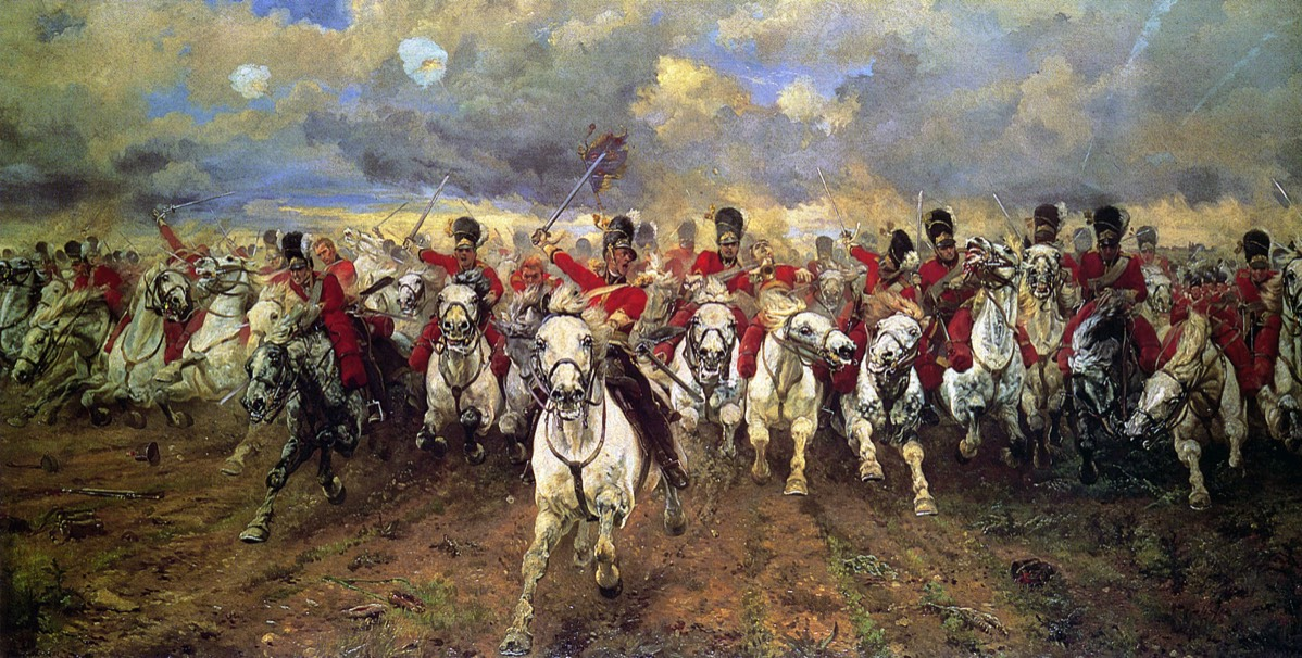 Scotland Forever!, the charge of the Scots Greys at Waterloo von Elizabeth Thompson
